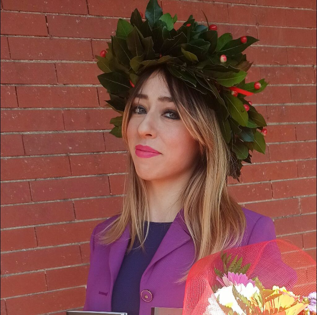 Lucrezia on her graduation day